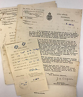 BNPS.co.uk (01202) 558833<br /> Pic: Tennants/BNPS<br /> <br /> Documents from India office were also included in the sale.<br /> <br /> A British prisoner of war's drawings and photographs of the building of the notorious 'Death Railway' in Burma have sold for £5,000.<br /> <br /> Captain Harry Witheford's accomplished sketches highlight the horrific ordeal endured by the captured soldiers at the hands of their Japanese captors in World War Two.<br /> <br /> The so-called Death Railway along the River Kwai claimed the lives of 12,000 Allied PoWs who were subjected to forced labour during its construction.