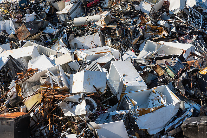 Scrap metal recycling facility, Wilmington, North Carolina, USA.