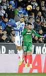 CD Leganes' Youssef En-Nesyri and Deportivo Alaves' Martin Aguirregabiria (R) during La Liga match. November 23,2018. (ALTERPHOTOS/Alconada)