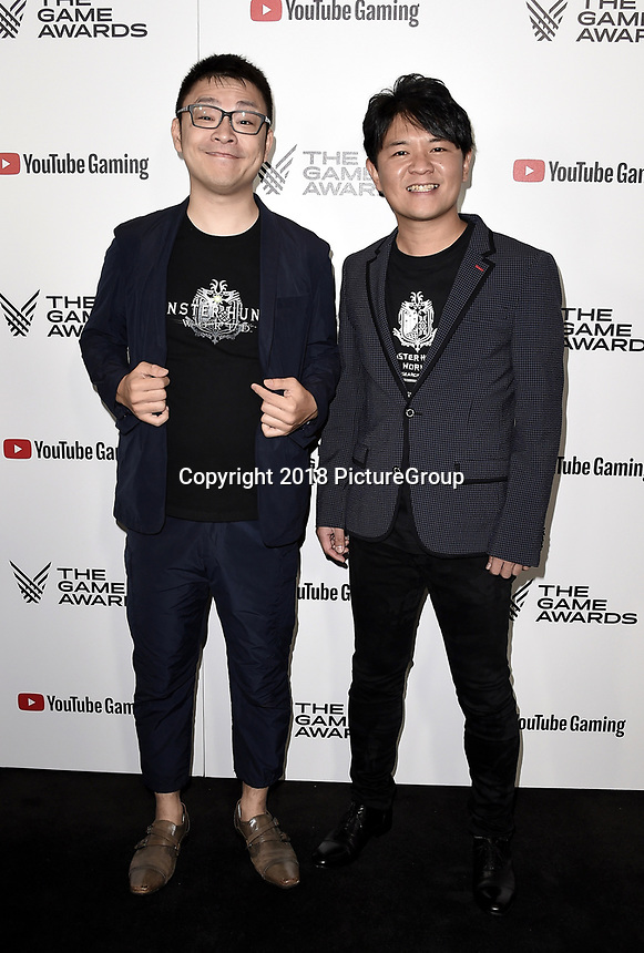 LOS ANGELES - DECEMBER 6: Ryozo Tsujimoto and Yuya Tokuda (L) attend the 2018 Game Awards at the Microsoft Theater on December 6, 2018 in Los Angeles, California. (Photo by Scott Kirkland/PictureGroup)