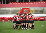 Ennis in a huddle before their U-18 Munster Club Final against Garryowen at Thomond Park. Photograph by John Kelly.