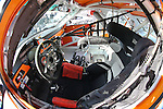 A fish eye lense views of the interior of the race cars during the Continental Tire Challenge race at the Circuit of the Americas race track in Austin,Texas...