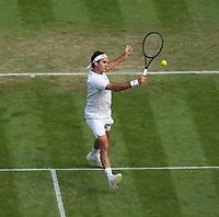 1st July 2021; Wimbledon, SW London. England; Wimbledon Tennis Championships, day 4;  Roger Federer , Switzerland