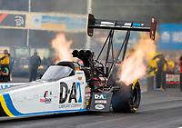Sep 13, 2019; Mohnton, PA, USA; NHRA top fuel driver Jordan Vandergriff during qualifying for the Keystone Nationals at Maple Grove Raceway. Mandatory Credit: Mark J. Rebilas-USA TODAY Sports