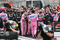 15th November 2020; Istanbul Park, Istanbul, Turkey; FIA Formula One World Championship 2020, Grand Prix of Turkey, Race Day;  11 Sergio Perez MEX, BWT Racing Point F1 Team celebrates his 2nd placed finish