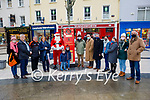 The Tralee Rotary Club launch their Santa Claus Postbox on Saturday in the Square. L to r:  Catherine and Harry Hynes, Bernard Pop Lynch, Grace O'Donnell, Santa Claus, Oisin and Hugh O'Donnell, Martin Hoban, George Philips, John, Alison and Sinead Moriarty, Sharon Hayes (President of Rotary Club) and Nigel Crowe.