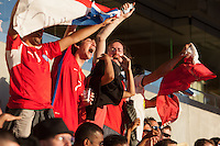 Santa Clara, CA - Monday June 6, 2016: Chile fans cheer in the first half. Argentina played Chile in the group D match of the Copa América Centenario game at Levi's Stadium.