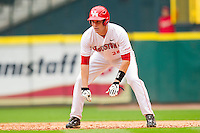 Caleb Ramsey #28 of the Houston Cougars takes his lead off of first base against the Baylor Bears at Minute Maid Park on March 4, 2011 in Houston, Texas.  Photo by Brian Westerholt / Four Seam Images