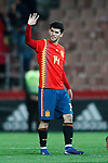 Spain's Carles Alena celebrates victory  during the International Friendly match on 21th March, 2019 in Granada, Spain. (ALTERPHOTOS/Alconada)