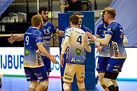 27-02-2021: Volleybal: Amysoft Lycurgus v Computerplan VCN: Groningen blijdschap bij Lycurgus