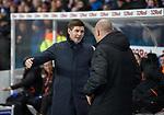 04.03.2020: Rangers v Hamilton: Steven Gerrard gives Brian Rice a hug