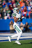 New York Jets Andre Roberts (19) catches a kickoff during an NFL football game against the Buffalo Bills, Sunday, December 9, 2018, in Orchard Park, N.Y.  (Mike Janes Photography)