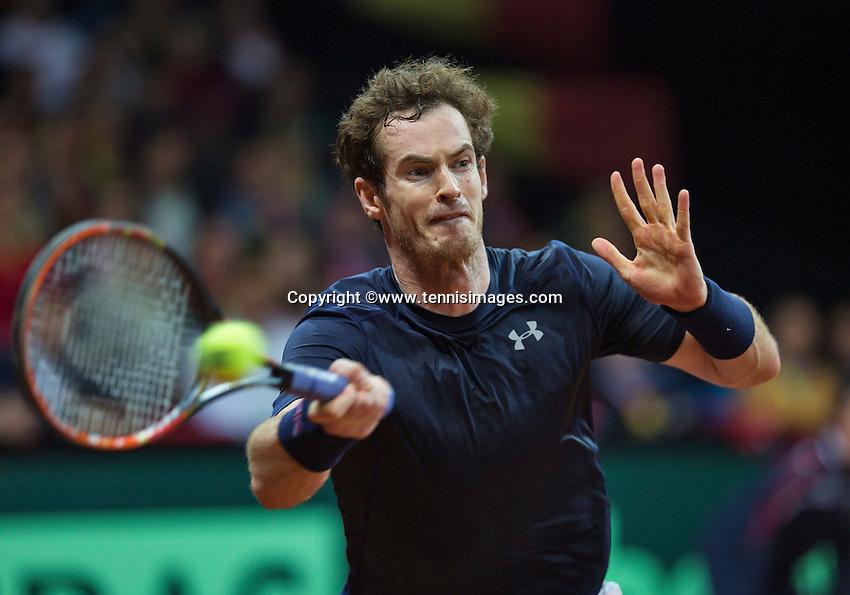 Gent, Belgium, November 27, 2015, Davis Cup Final, Belgium-Great Britain, Second match, Andy Murray (GBR) <br /> Photo: Tennisimages/Henk Koster