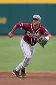 Florida State Seminoles second baseman John Sansone (12) during a game against the South Florida Bulls on March 5, 2014 at Red McEwen Field in Tampa, Florida.  Florida State defeated South Florida 4-1.  (Copyright Mike Janes Photography)