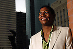 Apprentice Nkrumah Gatling at the Hobby Center  Friday Aug. 17,2007.(Dave Rossman/For the Chronicle)
