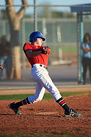 Ryan Mendez (48), from Omaha, Nebraska, while playing for the Red Sox during the Under Armour Baseball Factory Recruiting Classic at Red Mountain Baseball Complex on December 29, 2017 in Mesa, Arizona. (Zachary Lucy/Four Seam Images)