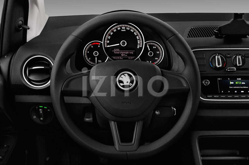 Car pictures of steering wheel view of a 2017 Skoda Citigo Ambition 5 Door Hatchback