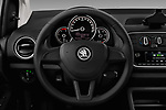 Car pictures of steering wheel view of a 2017 Skoda Citigo Ambition 5 Door Hatchback