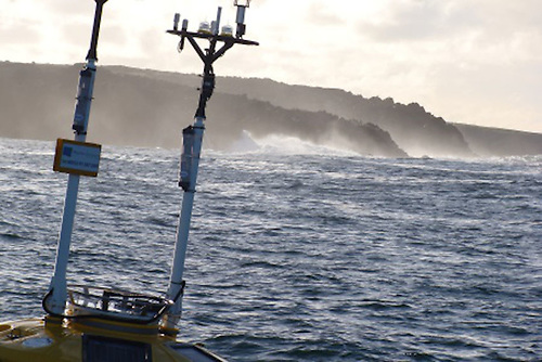 File image of a weather buoy