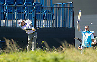 140719 | The 148th Open - Sunday Practice<br /> <br /> Kevin Kisner plays into the Par 3 13th during practice for the 148th Open Championship at Royal Portrush Golf Club, County Antrim, Northern Ireland. Photo by John Dickson - DICKSONDIGITAL
