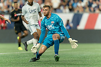 FOXBOROUGH, MA - AUGUST 4: Matt Turner #30 of New England Revolution gets ready during a game between Los Angeles FC and New England Revolution at Gillette Stadium on August 3, 2019 in Foxborough, Massachusetts.
