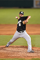 San Antonio Missions pitcher Leonel Campos (6) delivers a pitch during a game against the Arkansas Travelers on May 24, 2014 at Dickey-Stephens Park in Little Rock, Arkansas.  Arkansas defeated San Antonio 4-2.  (Mike Janes/Four Seam Images)