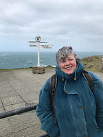 BNPS.co.uk (01202 558833)<br /> Pic: PennyIbbott/BNPS<br /> <br /> Pictured: Penny at Land's End in March last year.<br /> <br /> Second time lucky...<br /> <br /> An intrepid pensioner has restarted her mission to travel around England on her free bus pass for charity 18 months after she had to cancel due to Covid.<br /> <br /> Grandmother Penny Ibbott was 16 days into her journey in March last year when Boris Johnson announced that people should stop any non-essential travel as the pandemic hit.<br /> <br /> The 75-year-old was devastated to call it off after months of planning, but has not let it beat her and has now set off to do the whole route again.