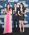 Bryce Dallas Howard and Xavier Samuel and Elizabeth Reaser at 2011 MTV Movie Awards held at Gibson Ampitheatre in Universal City, California on June 05,2011                                                                               © 2011 Hollywood Press Agency