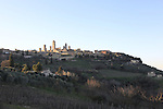 San Gimignano start point of the 2015 Strade Bianche Eroica Pro cycle race running 200km over the white gravel roads from San Gimignano to Siena, Tuscany, Italy. 6th March 2015<br /> Photo: Eoin Clarke www.newsfile.ie