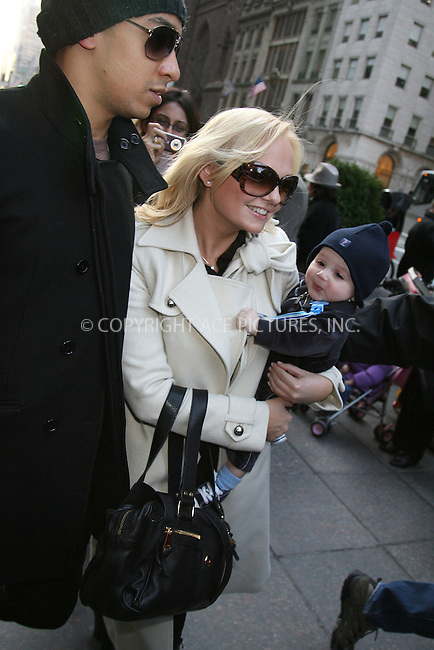 WWW.ACEPIXS.COM ** ** ** ....February 8 2008, New York City....Spice girl Emma Bunton (Baby Spice) was spotted shopping at the Gucci store on 5th Avenue with son Beau Lee Jones and partner Jade Jones....Please byline: Philip Vaughan -- ACEPIXS.COM.. *** ***  ..Ace Pictures, Inc:  ..tel: (646) 769 0430..e-mail: info@acepixs.com..web: http://www.acepixs.com