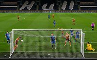 Hull City's Martin Samuelsen scores his side's second goal from close range<br /> <br /> Photographer Alex Dodd/CameraSport<br /> <br /> EFL Papa John's Trophy - Northern Section - Group H - Hull City v Grimsby Town - Tuesday 17th November 2020 - KCOM Stadium - Kingston upon Hull<br />  <br /> World Copyright © 2020 CameraSport. All rights reserved. 43 Linden Ave. Countesthorpe. Leicester. England. LE8 5PG - Tel: +44 (0) 116 277 4147 - admin@camerasport.com - www.camerasport.com