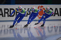 SPEEDSKATING: 24-11-2019 Tomaszów Mazowiecki (POL), ISU World Cup Arena Lodowa, Team Pursuit Men Division A (ITA), ©photo Martin de Jong