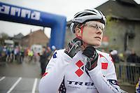 Katie Comptom (USA) at the start<br /> <br /> Vlaamse Druivencross Overijse 2013