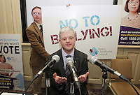 2No Fee 21/03/14  David Clarke pictured at World Down Syndrome Day ,The National Advisory Council who are adults with Down syndrome are going to be delivering their manifesto to a bunch of TD's and MEPs and handing out fliers etc.Pictured at Buswells Hotel,Co Dublin this afternoon… Pic STEPHEN COLLINS/Collins Photos