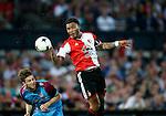 Nederland, Rotterdam, 11 mei 2015<br /> Eredivisie<br /> Seizoen 2014-2015<br /> Feyenoord-Vitesse<br /> Jan-Arie van der Heijden van Vitesse en Colin Kazim-Richards van Feyenoord