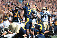 D.J. Campbell calls for Cal's successful fumble recovery. The University of California Berkeley Golden Bears defeated the UC Davis Aggies 52-3 in their home opener at Memorial Stadium in Berkeley, California on September 4th, 2010.