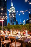NYC Covid Sunset Wedding<br /> Queensboro Bridge Park and Manhattan Rooftop