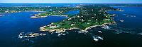 Aerial of Southern Ocean Drive, Newport, RI