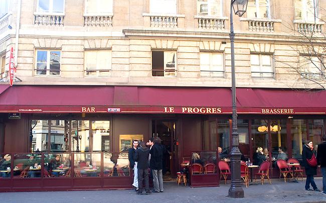 Exterior, Le Progres Restaurant, Paris, France, Europe