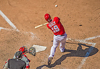 26 May 2013: Washington Nationals infielder Chad Tracy in action against the Philadelphia Phillies at Nationals Park in Washington, DC. The Nationals defeated the Phillies 6-1, taking the rubber game of their 3-game weekend series. Mandatory Credit: Ed Wolfstein Photo *** RAW (NEF) Image File Available ***