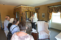 Patrons tour the private bedroom of America's 1st First Lady Dolly Madison at Montpelier in Orange County, Va. Photo/Andrew Shurtleff