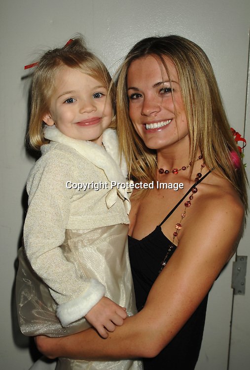 Melissa Claire Egan and Hayley Evans..at The All My Children Christmas party on December 8, 2006 at The ABC Studio...Robin Platzer, Twin Images