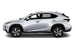 Car Driver side profile view of a 2020 Lexus NX 300h 5 Door SUV Side View