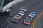 2017 NASCAR Cup - Clash at Daytona<br /> Daytona International Speedway, Daytona, FL USA<br /> Sunday 19 February 2017<br /> Denny Hamlin, FedEx Express Toyota Camry, Daniel Suarez, ARRIS Toyota Camry, restart<br /> World Copyright: Michael L. Levitt/LAT Images<br /> ref: Digital Image levitt-0217-D500_08549