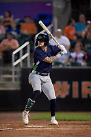 Vermont Lake Monsters Noah Vaughan (23) at bat during a NY-Penn League game against the Aberdeen IronBirds on August 19, 2019 at Leidos Field at Ripken Stadium in Aberdeen, Maryland.  Aberdeen defeated Vermont 6-2.  (Mike Janes/Four Seam Images)