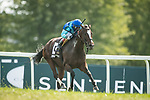 September 11, 2021: In Good Spirits #13, ridden by jockey John Velazquez to win the Grade 3 Mint Ladies Sprint Stakes on the turf at Kentucky Downs Racecourse in Franklin, K.Y. on September 11th, 2021. Wendy Wooley/Eclipse Sportswire/CSM