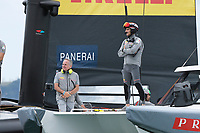 16th March 2021; Waitemata Harbour, Auckland, New Zealand;  Francesco Bruni of Luna Rossa Prada Pirelli ahead of racing on Day 6 of the America's Cup presented by Prada.