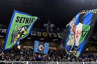 FC Internazionale fans cheer on during the Uefa Champions League group D football match between FC Internazionale and Real Madrid at San Siro stadium in Milano (Italy), September 15th, 2021. Photo Andrea Staccioli / Insidefoto