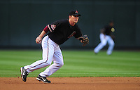 Apr. 19, 2008; Phoenix, AZ, USA; Arizona Diamondbacks second baseman Stephen Drew against the San Diego Padres at Chase Field. Mandatory Credit: Mark J. Rebilas-