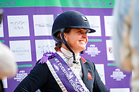 GBR-Piggy March speaks with the press during the Prizegiving. 2021 SUI-FEI European Eventing Championships - Avenches. Switzerland. Sunday 26 September 2021. Copyright Photo: Libby Law Photography
